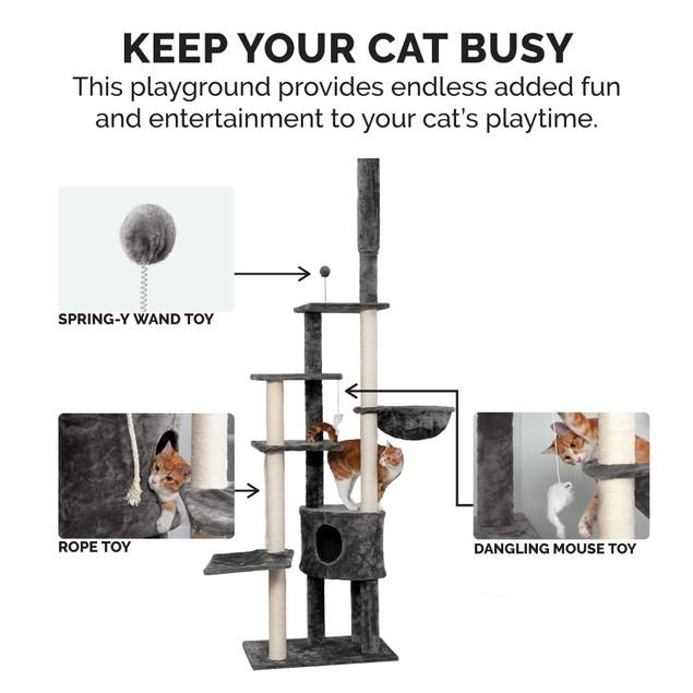 FurHaven Tiger Tough Skyscraper Cat Playground