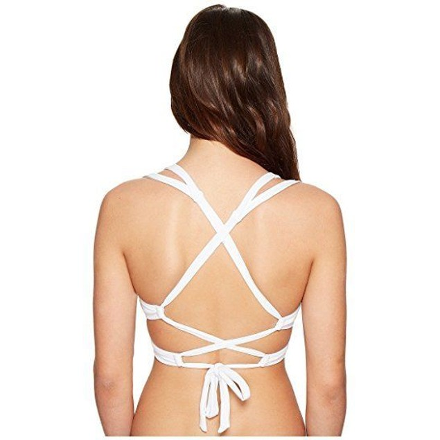 Becca  Women's Color Code Convertible Strap Bikini Top White SZ: D
