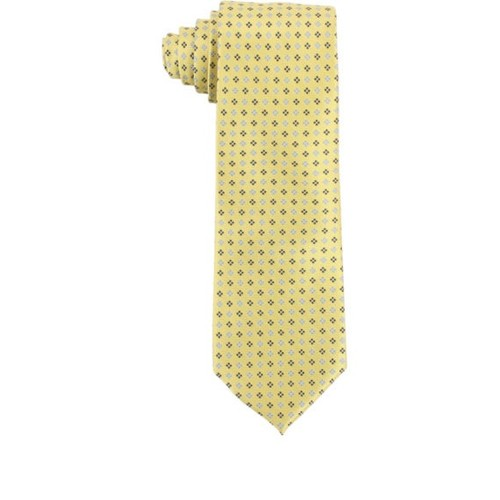 Tommy Hilfiger Square Neat Tie Yellow Size Regular