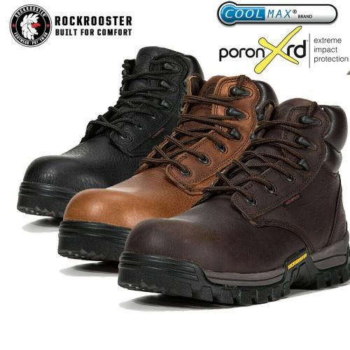 ROCKROOSTER Waterproof Work Boots Composite Toe Anti-Puncture EEE