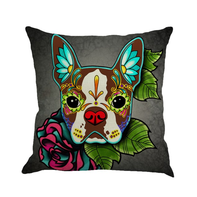 Greyhound Painting Linen Cushion Cover Throw Pillow Case Sofa Home Decor A