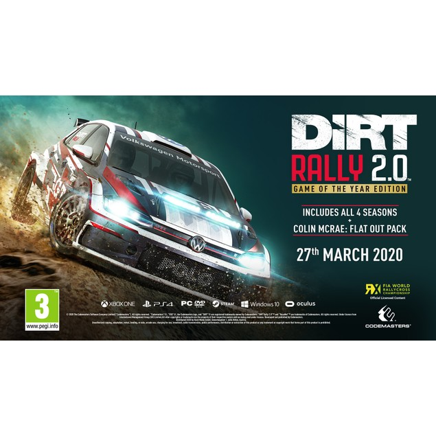 DiRT 2.0 Rally Game Of The Year Edition (GOTY) PS4 Game