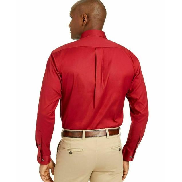 Club Room Men's Classic/Regular Fit Stretch Red Size 18.5X34-35