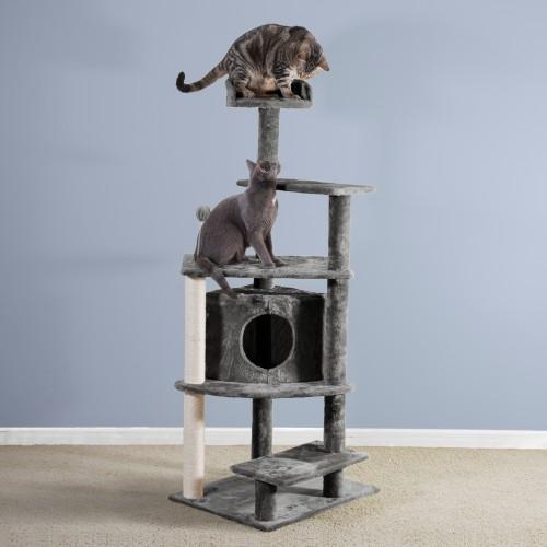 FurHaven Tiger Tough Platform House Cat Playground