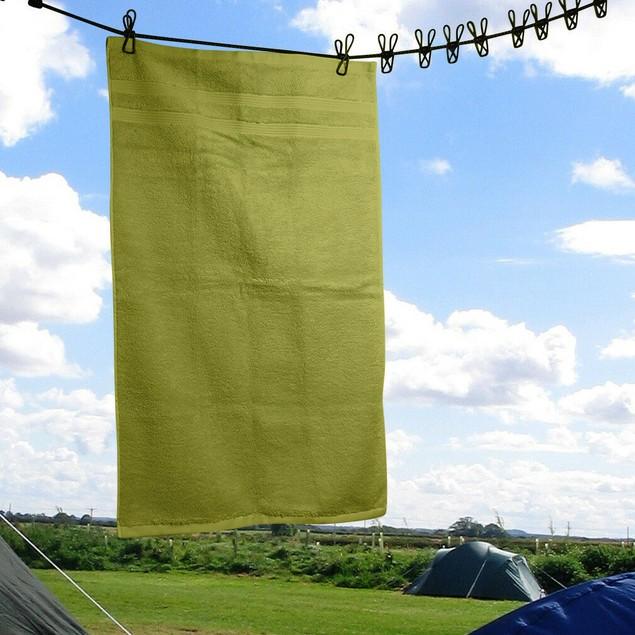Travel-Camping, Portable-Adjustable-Elastic Clothesline w/10 Clothespins