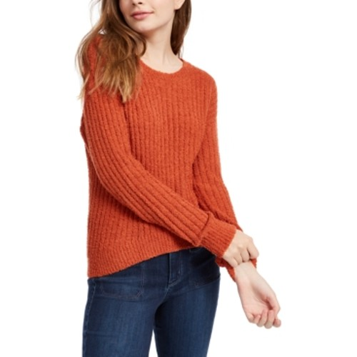 Crave Fame Juniors' Ribbed Cropped Sweater Red Size Extra Large