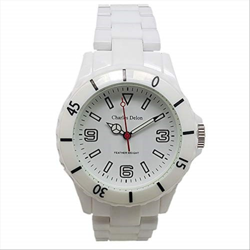 Charles Delon Men's Watches 5302 LLWW White/White Stainless Steel Quartz Round