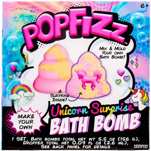 Pop Fizz Mix & Mold Make Your Own Unicorn Surprise Bath Bomb Kit, 5.5 Oz