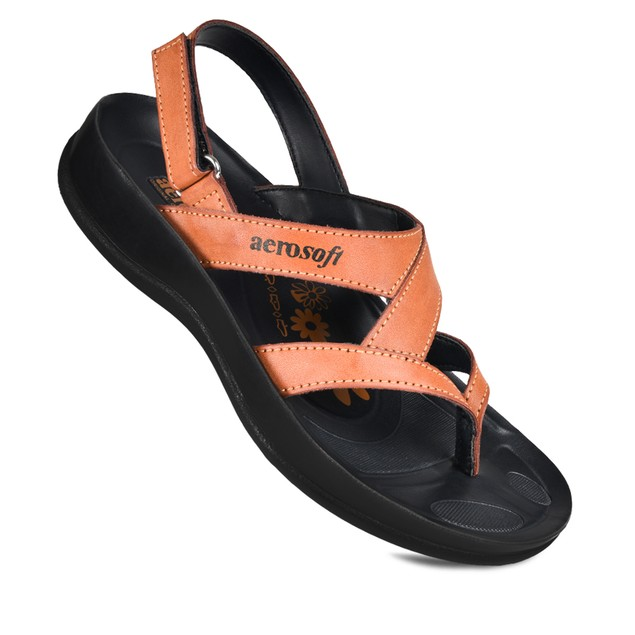 AEROSOFT Deke Slingback Arch Support Strappy Comfortable Walking Sandals for Women