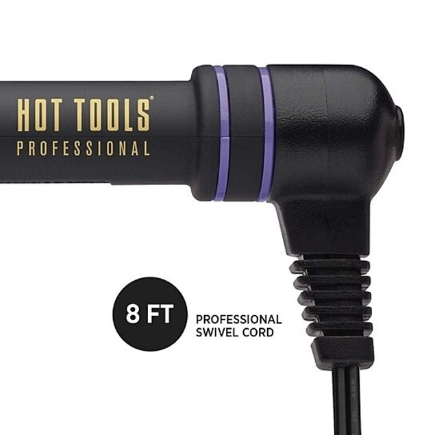 Hot Tools Professional Black Gold Curling Iron/Wand, 3/4 inch