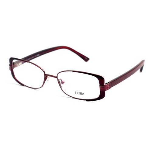 Fendi Eyeglasses Women Burdeaux Full Rim Rectangle 52 17 135 F944 603