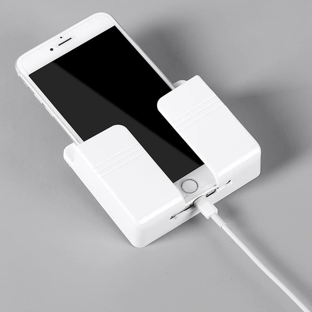 Adhesive Mobile Phone Wall Charger Holder