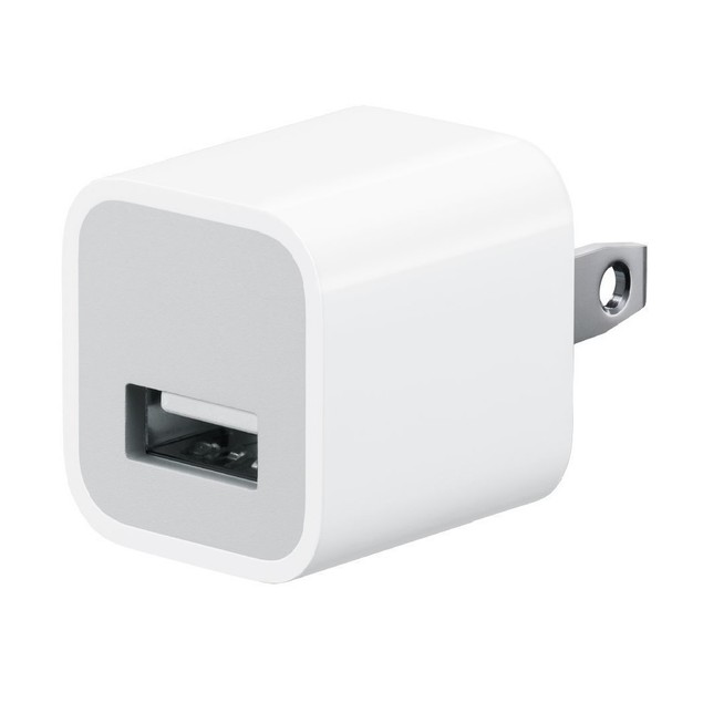 USB 5W Wall Power Adapter compatible with iPhone (Retail Packaging)
