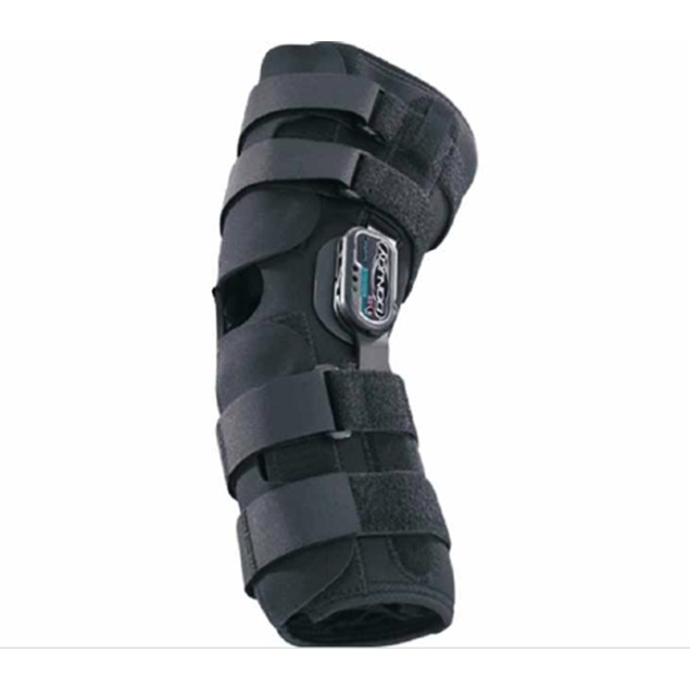 """DJO Knee Brace, 21"""" to 23-1/2"""" Circumference, Left or Right Knee, Large,"""