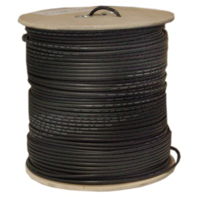 Bulk RG58/AU Coaxial Cable 20 AWG, Copper Stranded Conductor, 1000 foot