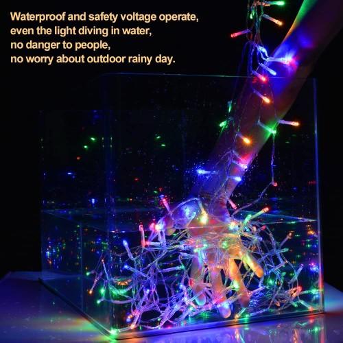 19.6X9.8FT 600 LED WATERPROOF STRING FAIRY CURTAIN LIGHTS WINDOW WEDDING