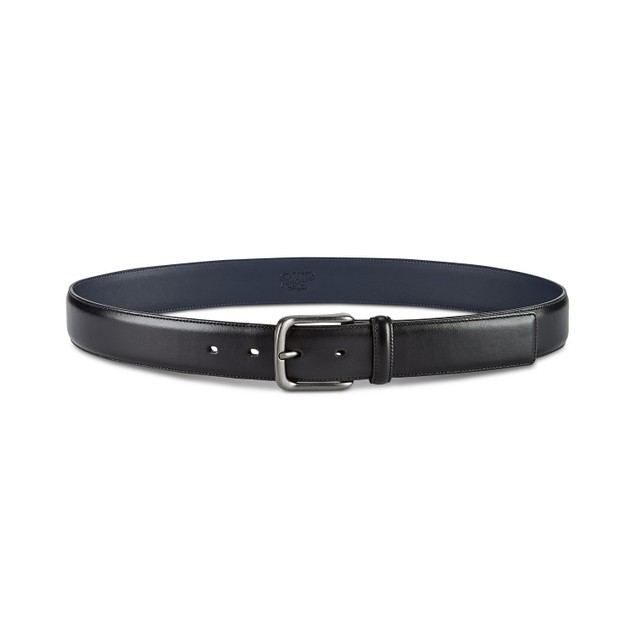 Penguin Original Men's Burnished Bird Leather Belt Black Size 36 Regular
