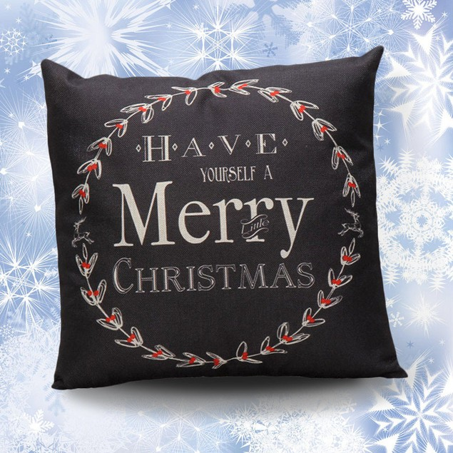 HOT!!! :45cm*45cm Vintage Christmas Sofa Bed Pillow Case Cushion Cover