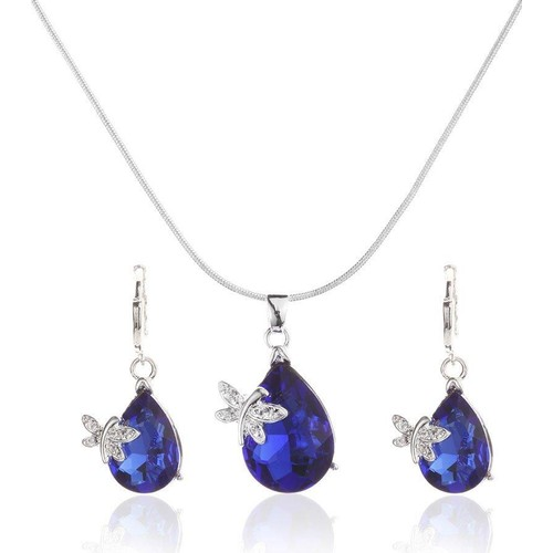 Austrian Crystals Butterfly Necklace Set