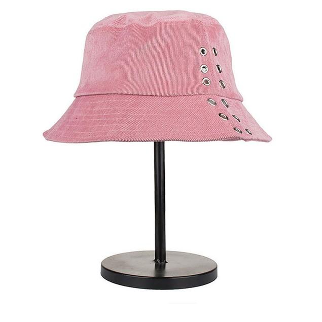 Women Men Breasted Cotton Tabby Short Eaves Basin Cap Fisherman Hat B