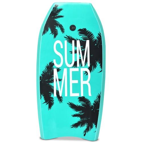 Goplus 41'' Lightweight Super Surfing Bodyboard  W/Leash IXPE Deck EPS