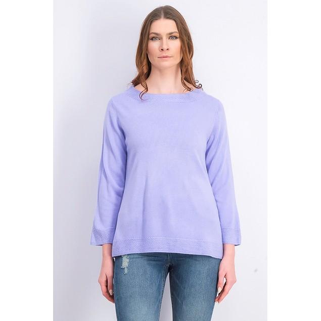 Karen Scott Women's Bateau-Neck Long-Sleeve Sweater Purple Size X-Large