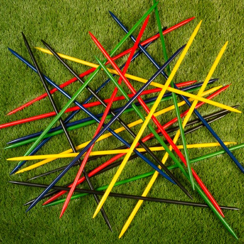 Jumbo Pick Up Sticks Classic Wooden Game, Outdoor or Indoor Fun