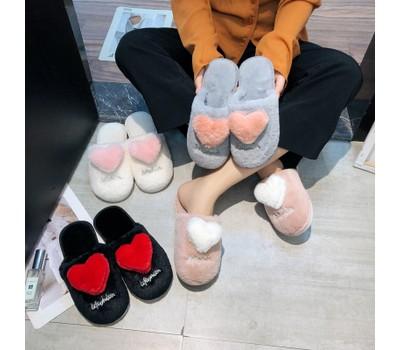 Women's V Day Heart Warm and Velvet Love Slippers Was: $28.99 Now: $18.99.