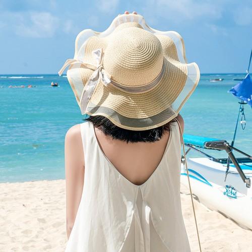Women's Net Yarn All-match Breathable Sun Hat