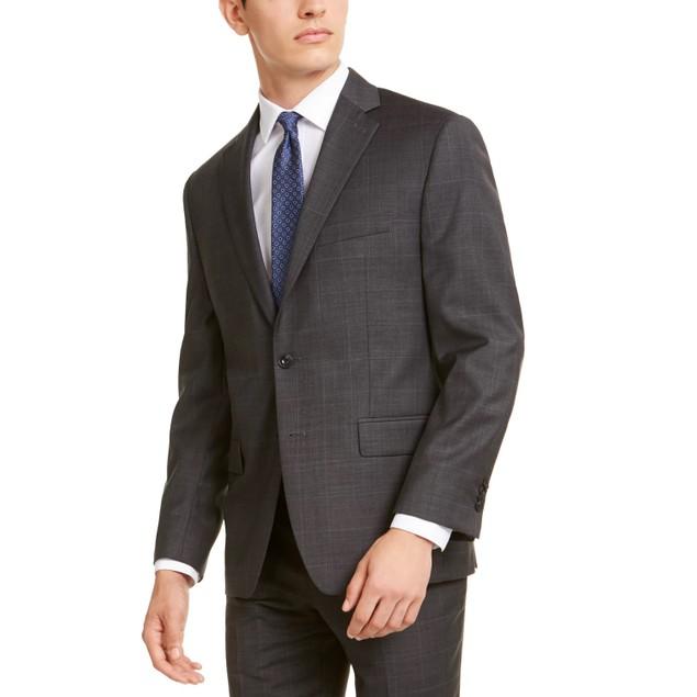 Michael Kors Men's Classic-Fit Airsoft Stretch Suit Jacket Gray Size 44