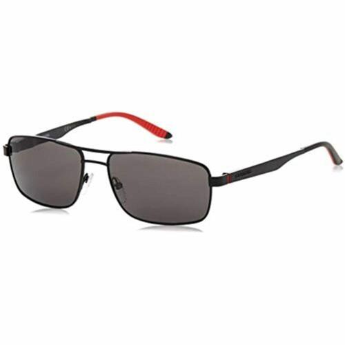 Carrera Sunglasses for Men CA8011/S Rectangular Matte Black/Polarized Gray