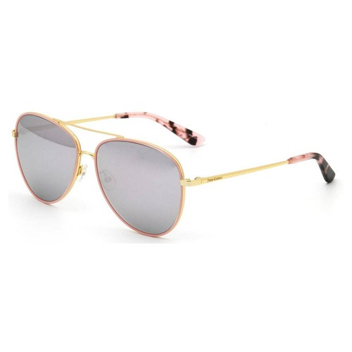 Juicy Couture Women Sunglasses JU599S EYR Gold Pink 59 14 135 Aviator Multilayer