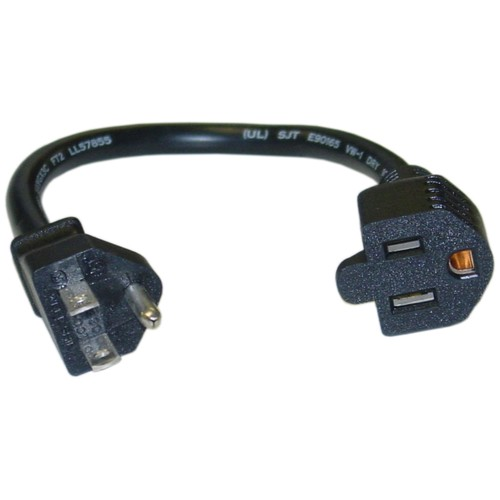 Power Extension Cord, 16 AWG, 10 Amp, 1 foot