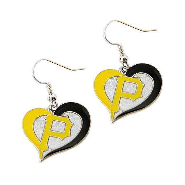 Pittsburgh Pirates Swirl Heart Earring