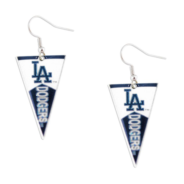 Los Angeles Dodgers MLB Pennant Dangle Earring