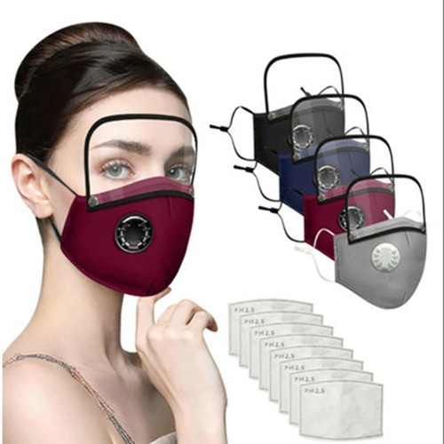 6Pcs Breathing Valve With Goggles, Removable Dustproof Adjustable Mask