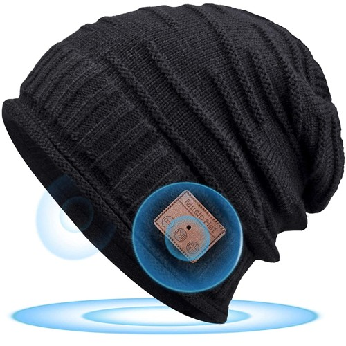 Upgraded Bluetooth Beanie Hat Winter Warm Knit Cap with Stereo Speakers