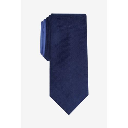 Bar III Men's Harbor Skinny Textured Mini-Grid Tie  Navy Size Regular