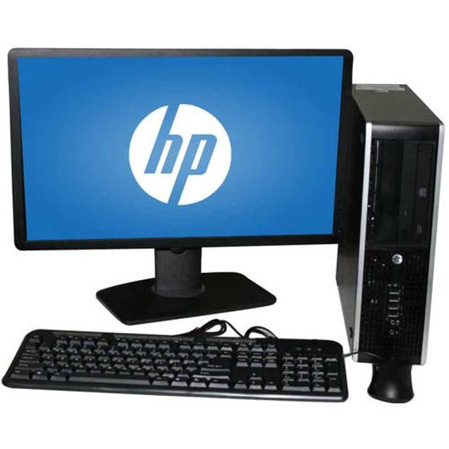 "HP 8200 Desktop Intel i5 8GB 2TB HDD Windows 10 Professional 22"" Monitor"