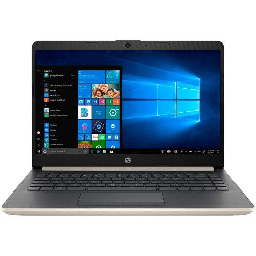"""HP 14-DQ1040WM 14"""" 256GB Win10,Pale Gold(Scratch and Dent)"""
