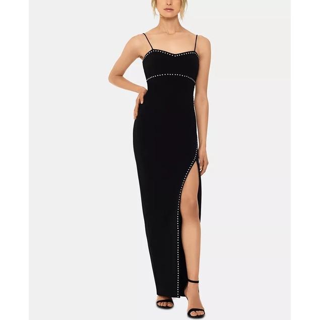 XSCAPE Women's Studded Gown Black Size 1