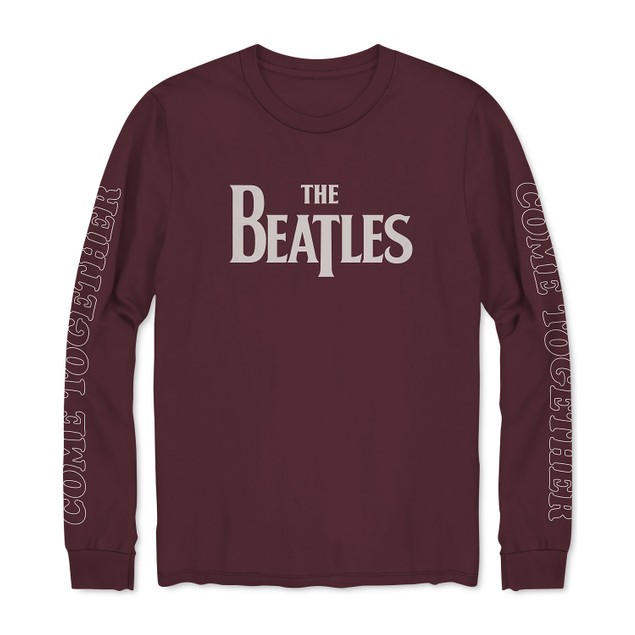 Hybrid Men's Long-Sleeve Beatles Come Together T-Shirt Red Size Medium