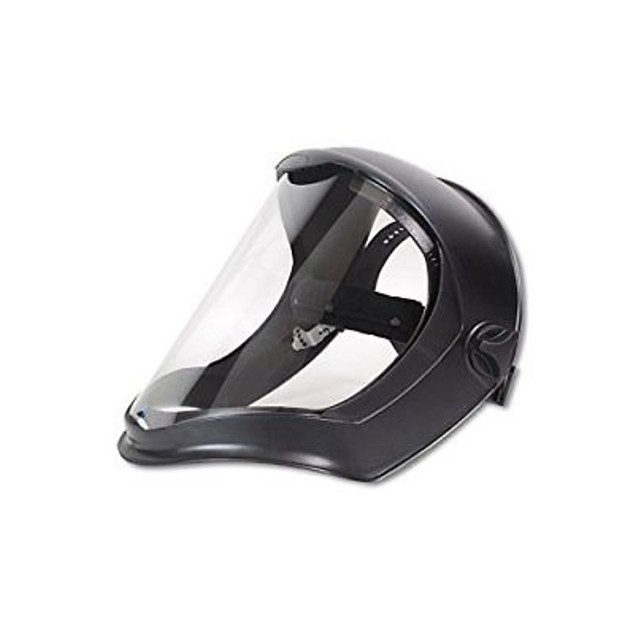 Uvex S8510 Bionic Face Shields, Clear/Black Matte