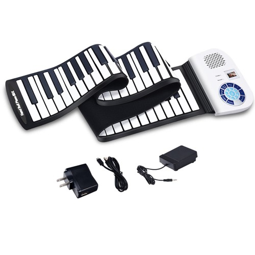 88 Key Rechargeable Bluetooth Electronic Roll Up Piano