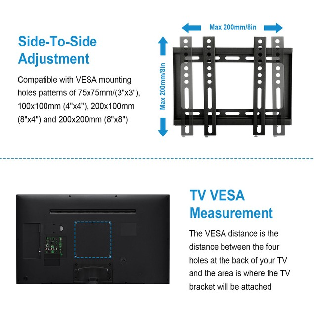 """Fixed TV Wall Mount Bracket for 23""""-42"""" TV"""