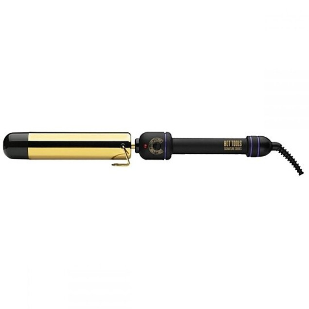 Hot Tools Gold Flipperless Curling Wand Iron, 1 1/2 inch