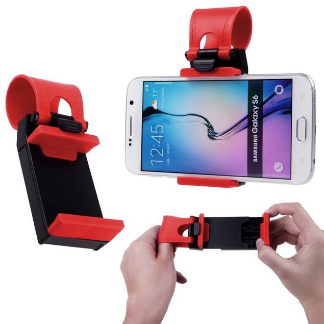 Universal Car Steering Wheel Mount for Smartphones