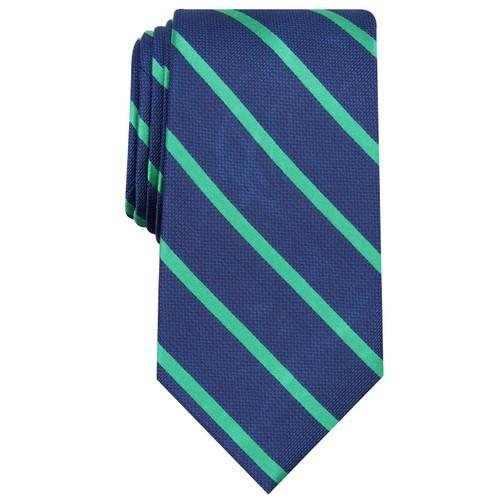 Club Room Men's Stripe Tie Dark Green Size Regular
