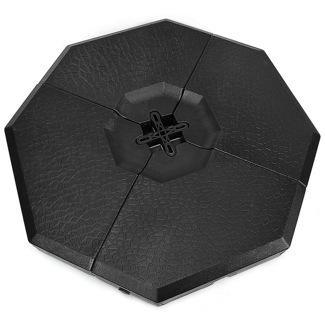 Costway 4PCS Patio Cantilever Offset Umbrella Weights Base Plate Set
