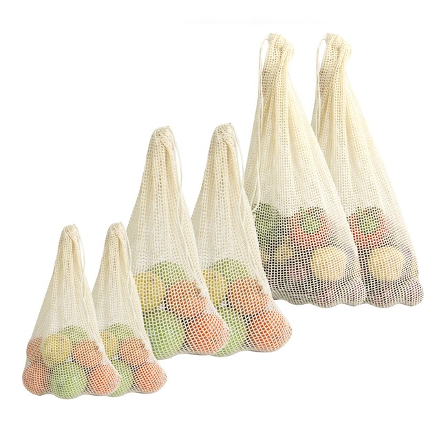 Organic Cotton Vegetable Bags - Set of 6 | MandW